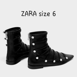 ZARA Black ankle boots size 6